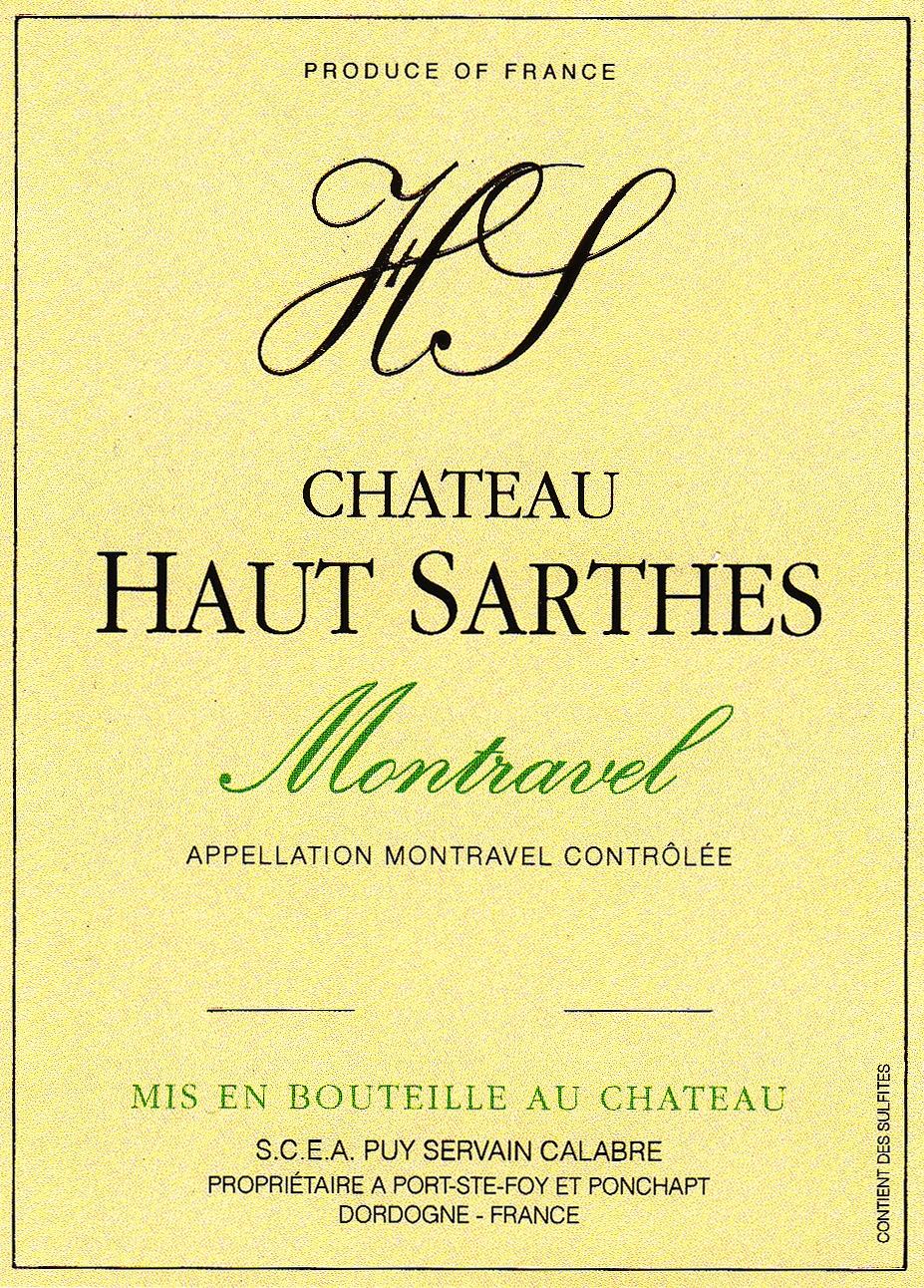 Château Haut-Sarthes Montravel Blanc