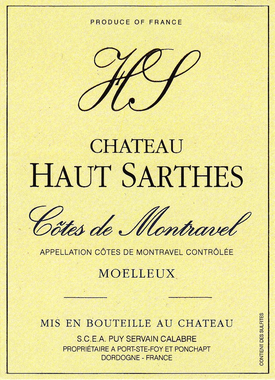 Château Haut-Sarthes Côtes de Montravel