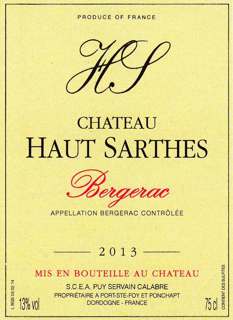 Château Haut-Sarthes Bergerac Rosé