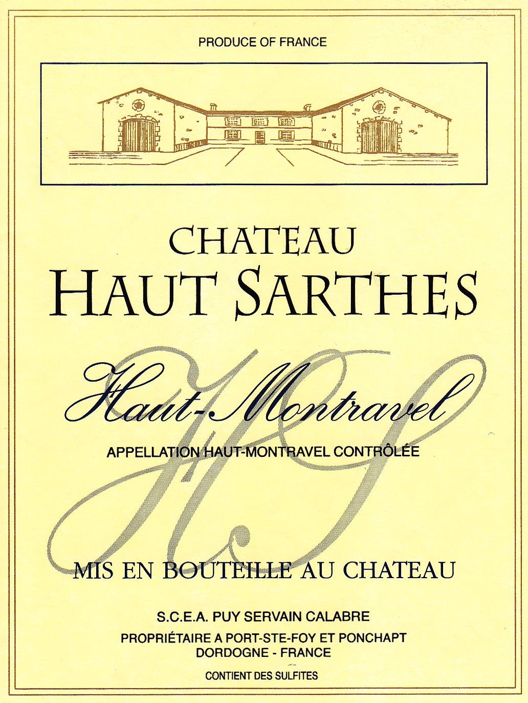 Château Haut-Sarthes Haut Montravel
