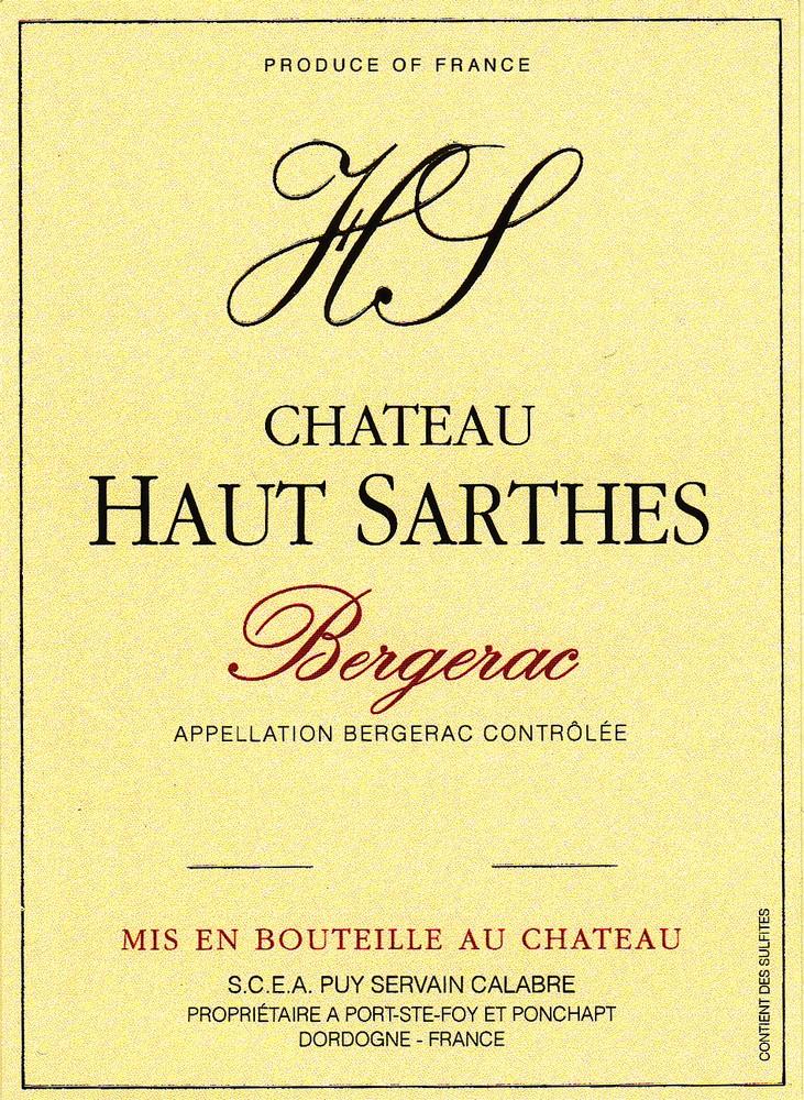 Château Haut-Sarthes Bergerac Rouge