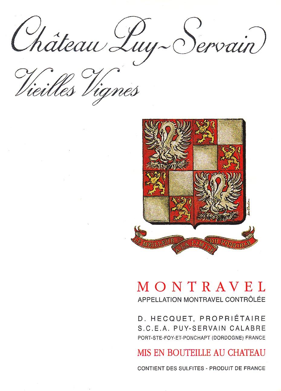 Etiquette Château Puy Servain Vieilles Vignes