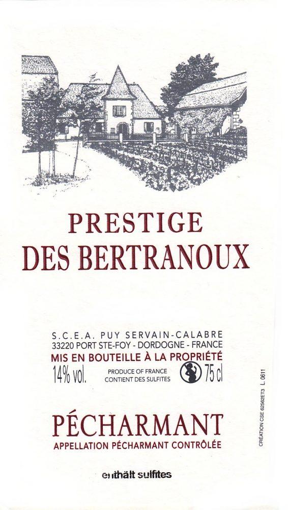 Etiquette Prestige des Bertranoux